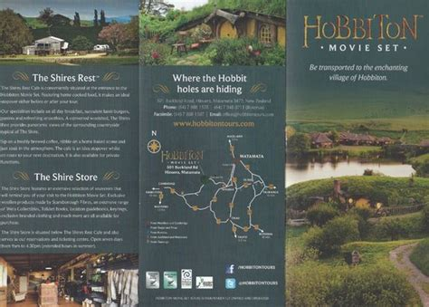 Real Hobbit House brochure hobbiton picture of hobbiton movie set tours