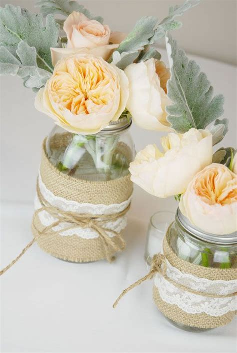 2 Rustic Wedding Centerpieces With Mason Jars Jars Wedding Centerpieces
