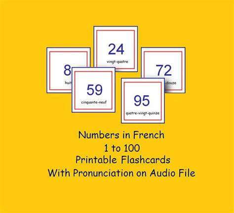 printable numbers 1 100 flashcards printable and downloadable french flashcards numbers 1