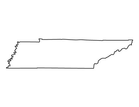 Tennessee String - 25 unique state pattern ideas on us map