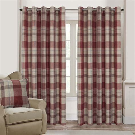 red check curtains ready made red check curtains ready made curtain best ideas