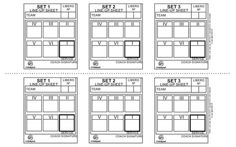 free printable volleyball lineup cards coaches corner