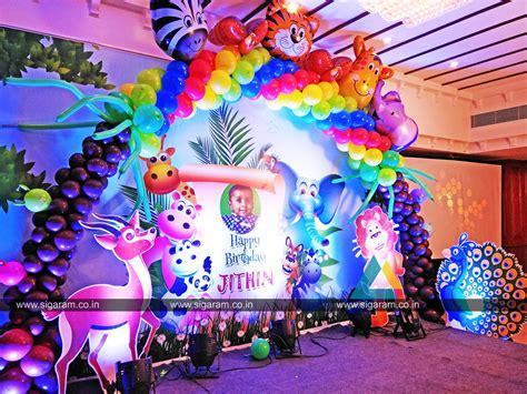 Decoration Theme Jungle by Jungle Themed Birthday Decoration Annamalai Hotel