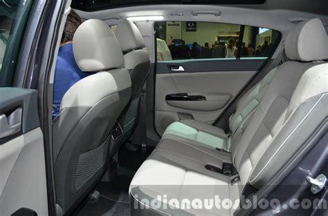 Kia Sportage Seating 2017 Kia Sportage Rear Seats At Iaa 2015 Indian Autos