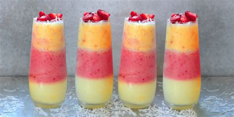 33 Easy Christmas Desserts triple layer pina colada recipe summer party cocktail
