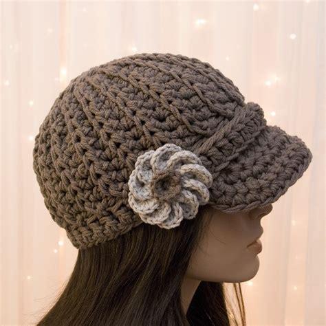 pattern crochet newsboy hat cotton crochet newsboy hat with flower for women pick