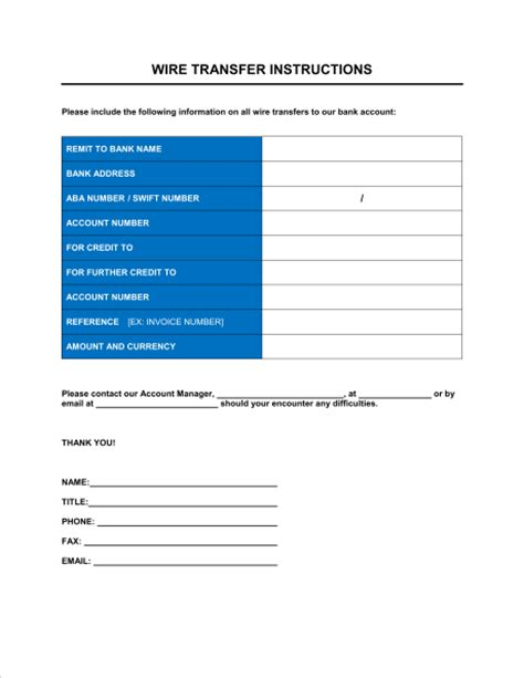 Wire Transfer Request Letter Wire Transfer Form Template Sle Form Biztree
