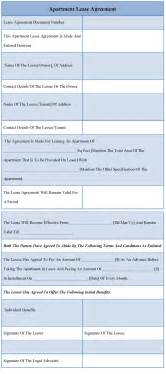 free apartment lease agreement template printable apartment lease agreement template