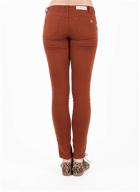 light colored skinny jeans rust colored skinny jeans light colored jeans tight