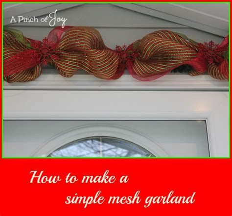 how to add wide mesh ribbon garland to a christmas tree craft a pinch of