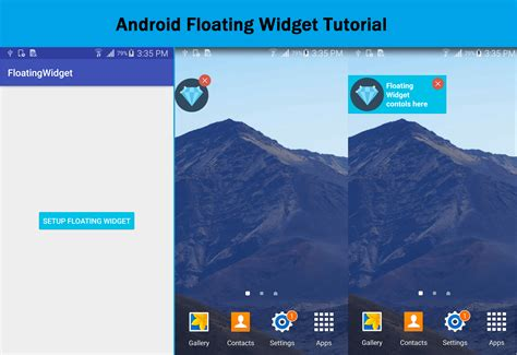 android widget tutorial how to create android floating widget to let views float the screen