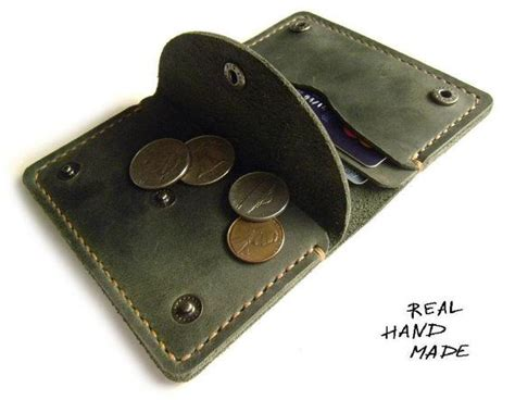 Handmade Womens Leather Wallets - leather wallet handmade minimal green leather