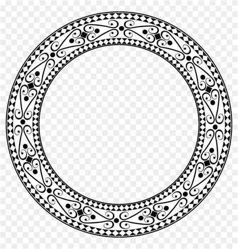 large decorative frame ornamental round frame large decorative circle frame png
