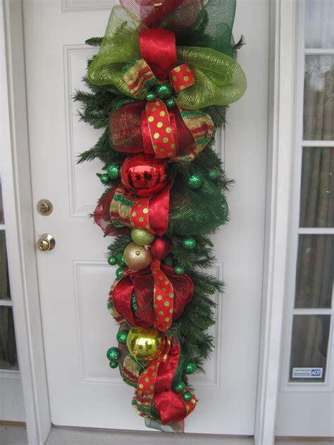door swag front door christmas decorations outdoor