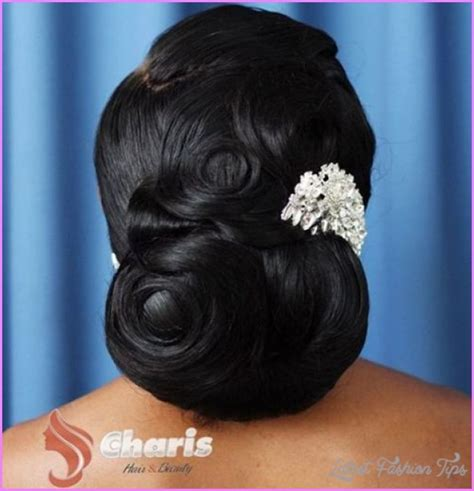 Bridesmaid Hairstyles For Black Hair by Black Wedding Hairstyles Latestfashiontips