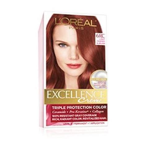 loreal hair color chart ginger permanent red hair color red hair dye l or 233 al paris