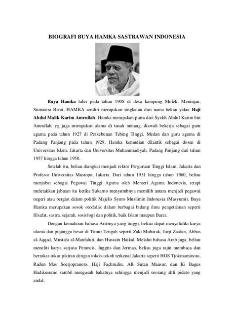 biografi dan pemikiran hamka biografi buya hamka sastrawan indonesia