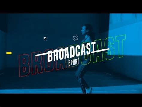 Broadcast Sport After Effects Template Youtube Broadcast After Effects Template