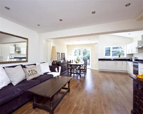 Living Room: Mesmerizing Open Kitchen Living Room Design