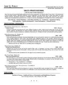 Resume Sle Professional by How To Write Sales Resume Recentresumes