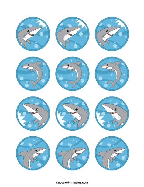 How To Make Cake Decorations At Home by Printable Shark Cupcake Toppers