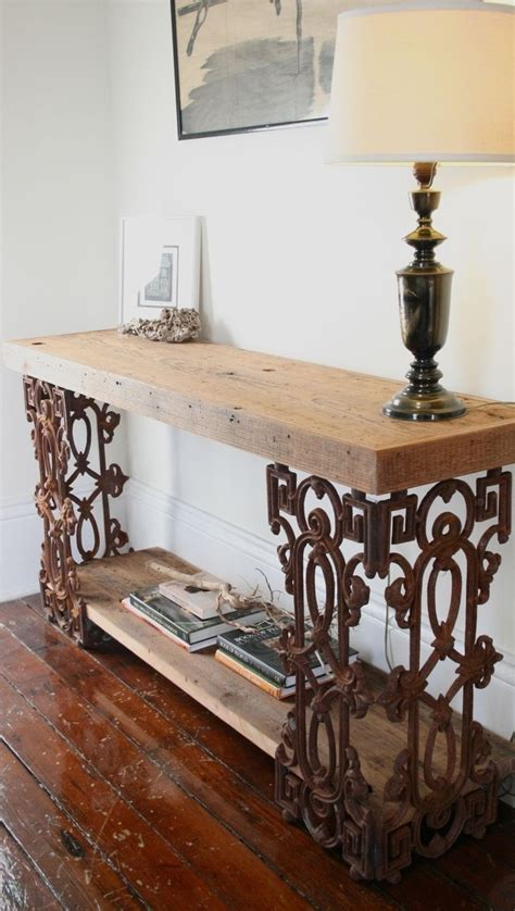 reclaimed wood and wrought iron sofa table 464 best furniture sofa entry console tables images on