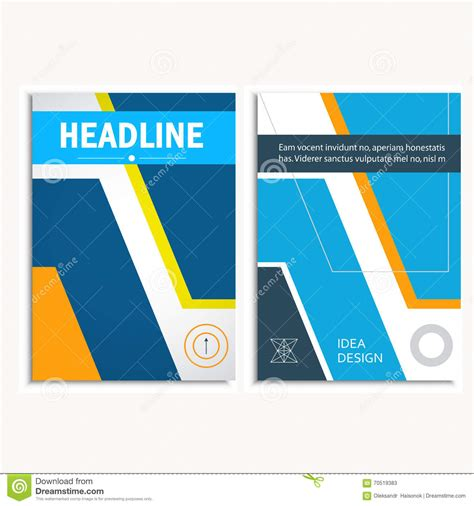 Annual Report Template Circle And Triangles Hossain Triangle And Circle Vector Annual Report Brochure Design