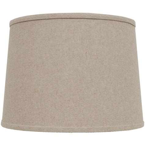 Beige Drum L Shade by Shop Portfolio 10 In X 14 In Beige Drum L Shade At