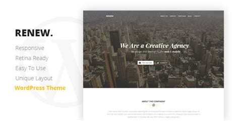 Pontus Creative Portfolio Agency Template renew creative one page theme theme for u