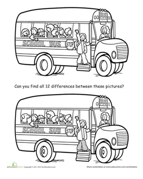 school stationery coloring pages spot the difference back to school worksheets school