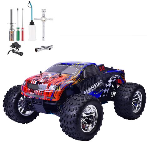 nitro monster truck 4wd hsp rc car 1 10 scale nitro gas power off road monster