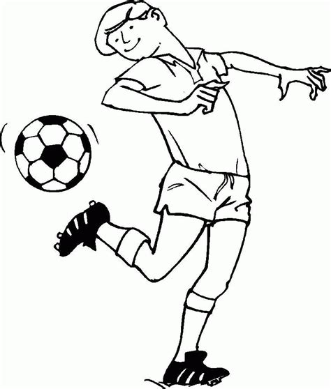 Football Coloring Pages Coloringpages1001 Com Soccer Color Pages