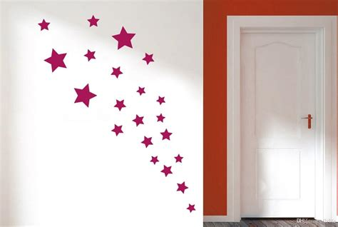 Fairy Wall Stickers removable various color stars decorative wall stickers