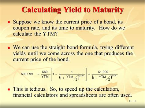 calculator yield to maturity chapter 11 bond prices and yields ppt video online download