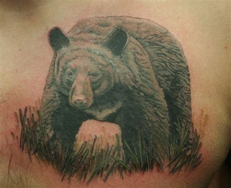 chest tattoo bear big bear tattoo on chest tattooimages biz