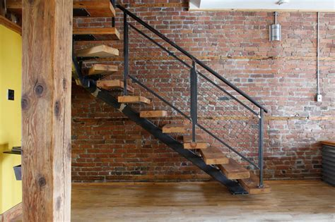 Industrial Staircase Design Accord Industrial Style Interior
