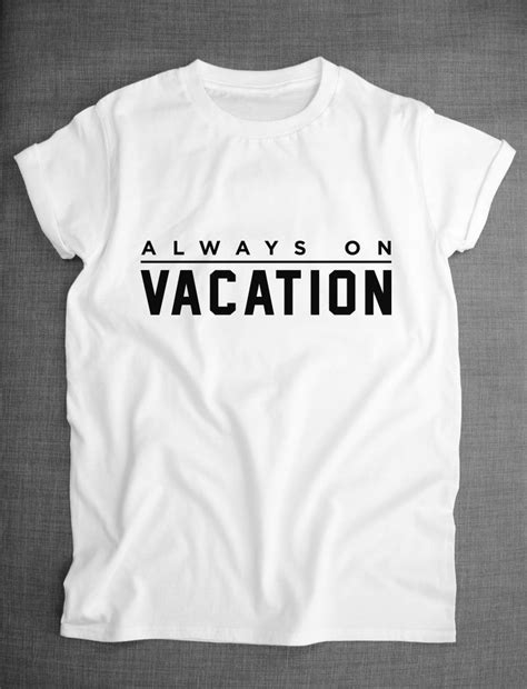 tshirt always on vacation hijau always on vacation slogan t shirt