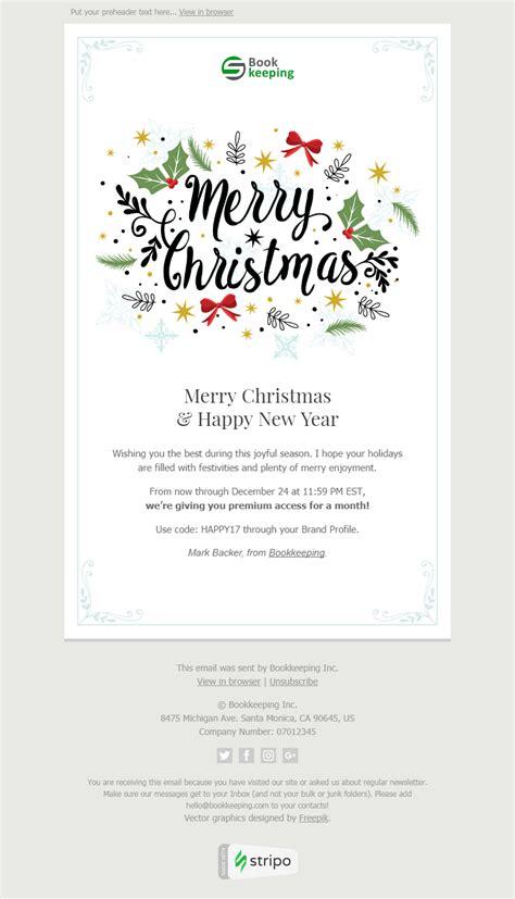 12 Christmas Email Templates Free Christmas Html Email Template Stripo Email Happy New Year Email Template