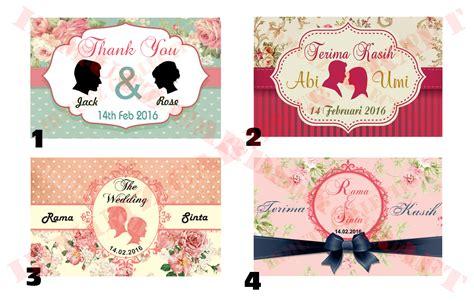 desain kartu ucapan souvenir pernikahan 86 kartu ucapan terima kasih contoh desain grafis