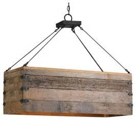 Rustic Kitchen Island Lighting by Reclaimed Wood Crate Chandelier Rustic Kitchen Island