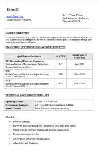 Fresher Electrical Engineer Resume Sample Resume Templates