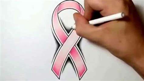 how to draw a cancer ribbon 2ᴴᴰ youtube
