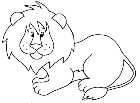 cute lion coloring page cute lion cub animals coloring pages