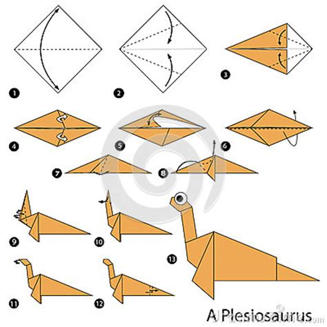 How To Make A Origami Dinosaur Step By Step - step by step how to make an origami dinosaur