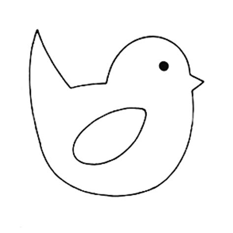 easter chick template clipart best