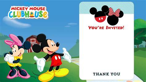free mickey mouse clubhouse photo birthday invitations drevio