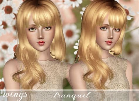 long hair with bangs sims2 the sims 3 long side with bangs hairstyle tranquil by wings