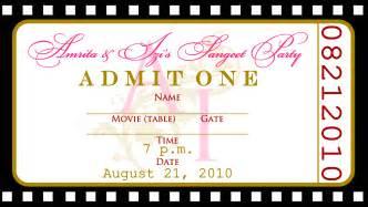 Free Movie Ticket Invitation Templates   Cloudinvitation.com