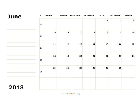 june  calendar wikidatesorg