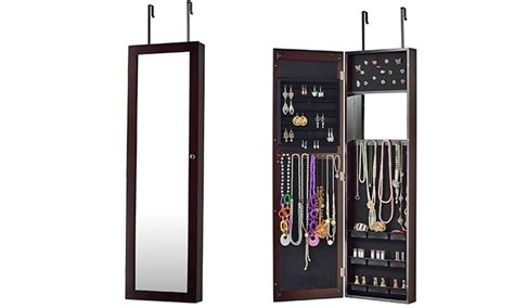 Jewelry Armoire With Length Mirror by The Door Jewelry Armoire With Length Mirror